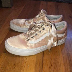 Vans Old Skool Shoes Satin Blush Pink